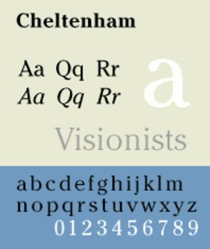 Cheltenham (typeface) - Image: Cheltenham Sp
