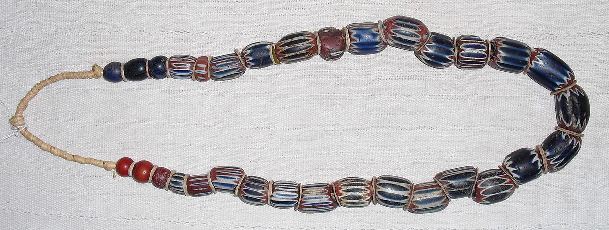 File Chevron Beads Ghana Jpg Wikimedia Commons