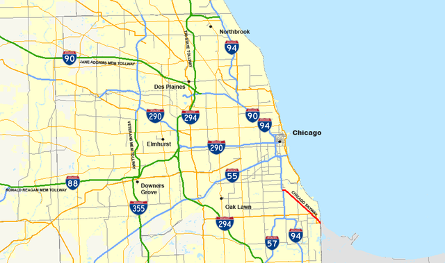Chicago Skyway Map File:Chicago Skwy map.png   Wikimedia Commons