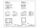 Chicken Coop No. 1 and Brooder House - Elevations and Floor Plans - Dudley Farm, Farmhouse and Outbuildings, 18730 West Newberry Road, Newberry, Alachua County, FL HABS FL-565 (sheet 9 of 22).png