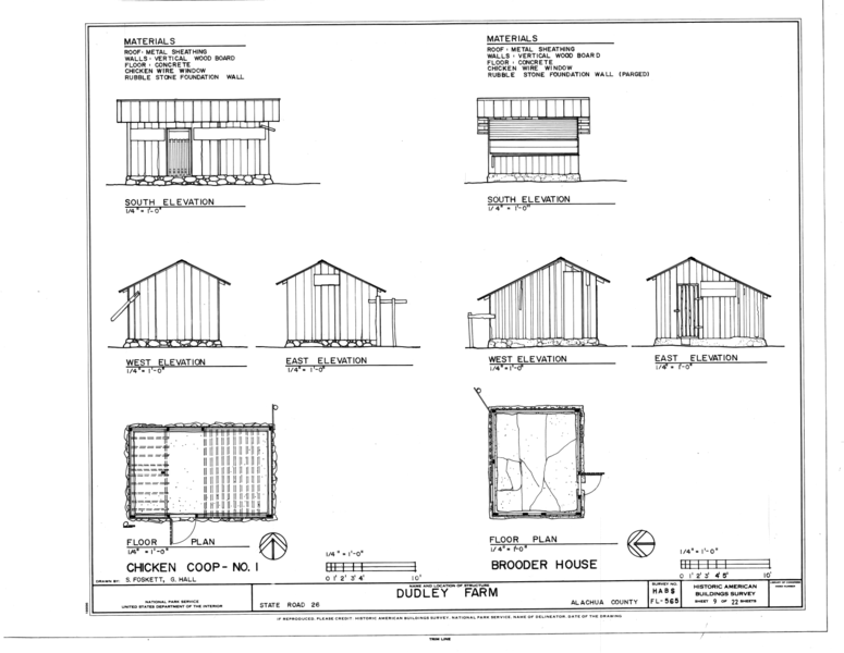 File:Chicken Coop No. 1 and Brooder House - Elevations and Floor ...