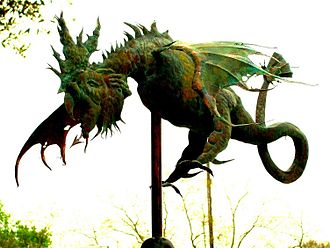 Patina -  Copper weather vane with verdigris patina