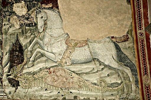 Chiesa San Francesco (Lucignano), Frammento degli affreschi