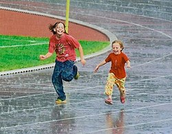 Children running in the rain 2008.jpg