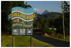 Chillingham, New South Wales - Northern approach to Chillingham with the summit of Mount Warning visible in the background