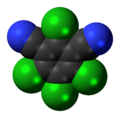 Chlorothalonil molecule spacefill.png