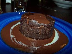 Fudge cake - Image: Chocolate cake be Ehud Kenan