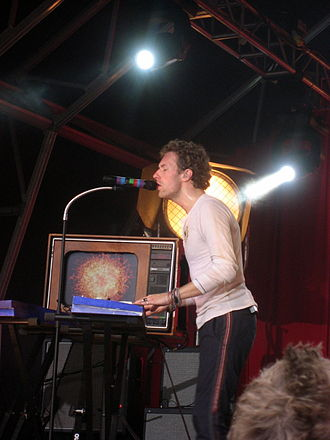 "Fix You - Chris Martin playing ""Fix You"" on a synthesiser during the band's 2008 Viva la Vida Tour"