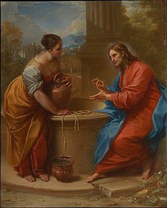 Benedetto Luti - Image: Christ and the Woman of Samaria Benedetto Luti