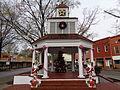 Christmas tree in Main St gazebo, Fort Valley.JPG