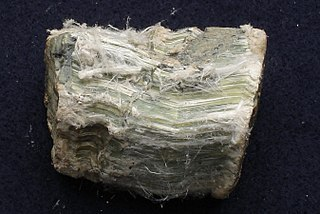 Chrysotile The most commonly encountered form of asbestos