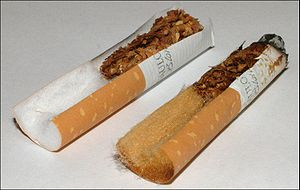 Cigarette filter - Filters in a new and used cigarette