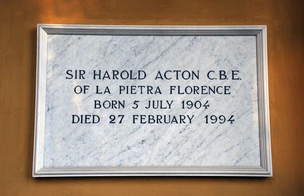 Cimitero Evangelico Agli Allori - grave - Harold Acton
