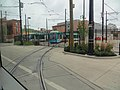 Cincinnati Streetcar maintenance facility viewed from a passing streetcar (2017).jpg