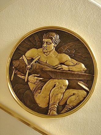 Hugo Ballin - A detail from the staircase, Burbank City Hall