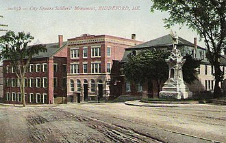 Biddeford, Maine - Image: City Square Soldiers' Monument, Biddeford, ME
