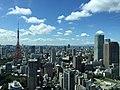 Cityscape near Tokyo Tower, ARK Hills Sengokuyama Mori Tower, and Shiroyama Trust Tower, view from Toranomon Hills Mori Tower, Minato-ku, Tokyo - 1 (2015-09-11 by yellowmagics9 @Pixabay 1121870).jpg