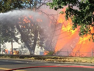 Civic Stadium (Eugene, Oregon) - Image: Civic Stadium Fire Eugene Oregon