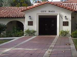 John B. Cobb - City Hall in Claremont, California.  Cobb has lived and worked in Claremont since 1958.