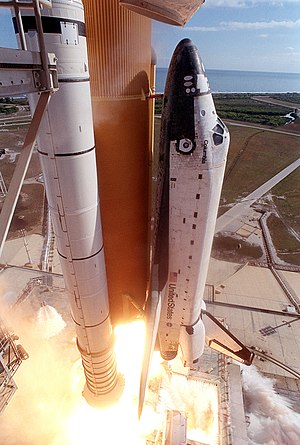 Spaceworthiness - Space Shuttle Columbia, thought to be spaceworthy despite damage incurred during this liftoff, was destroyed by it upon re-entry.