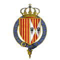 Coat of Arms of Alfonso V, King of Aragon and Naples, KG.png