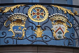 Coats of arms, balcony of Capitole of Toulouse 01.JPG
