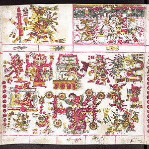 Mictlan - Mictlampa, the Northern hemisphere of Mictlan according to the Codex Borgia.