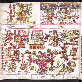 Mictlān - Mictlampa, the Northern hemisphere of Mictlan according to the Codex Borgia.