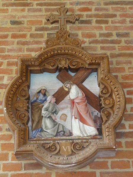 Coingt (Aisne) Église, chemin de croix, station 06