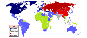 Cold War (1947–1953) - 1953 World Map of alignments.