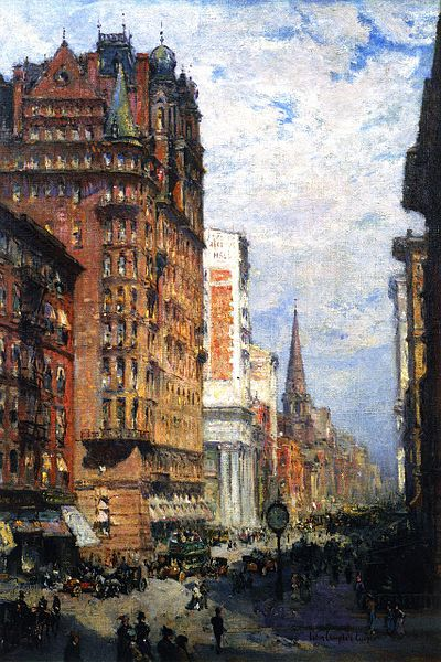 City Line Avenue >> File:Colin Campbell Cooper, Fifth Avenue, New York City.jpg - Wikimedia Commons