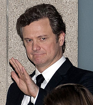 "Colin Firth leaving the premiere of ""The ..."