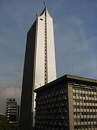The Coltejer Tower, the tallest building of Medellín, was built between 1968 and 1972, became an international symbol of the city. Coltejer is  one of the most important textile companies of Colombia and it was founded in Medellín by Alejandro Echavarría in October 22, 1907.