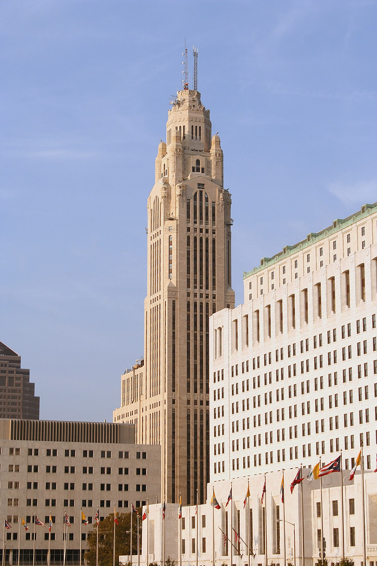Leveque tower wikipedia for Art deco building materials