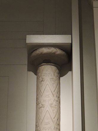 Treasury of Atreus - Reconstruction of one of the capitals from the Treasury of Atreus in the British Museum