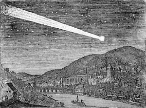 Discourse on Comets - One of the 1618 comets over Heidelberg