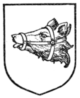 Fig. 352.—Bear's head erased and muzzled (Scottish).