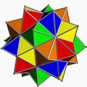 Compound of five octahedra - Image: Compound of five octahedra