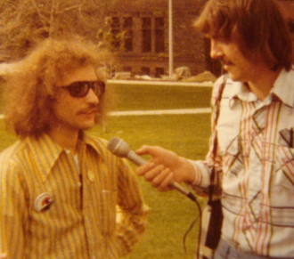Steve Conliff - Steve Conliff gives interview to Ohio State Lantern reporter during his gubernatorial campaign, 1978