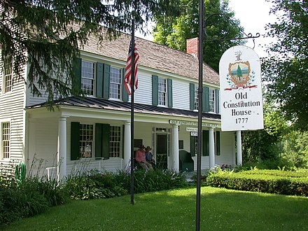 The Old Constitution House at Windsor, where the Constitution of Vermont was adopted on July 8, 1777 ConstitutionHouse WindsorVermont.JPG