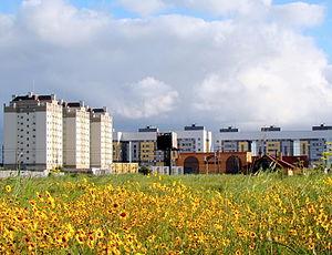 Pinhais - Buildings at the boundary between Pinhais and Curitiba