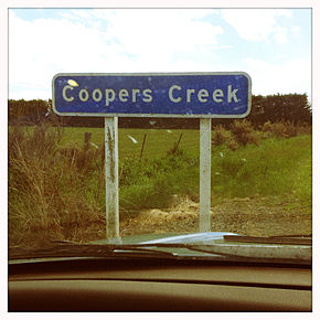 Coopers Creek, New Zealand sign.jpg