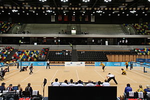 Goalball - A game of goalball in progress