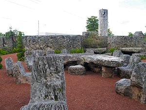 Edward Leedskalnin - A view from within Leedskalnin's Coral Castle.