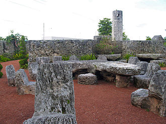 Coral Castle - A view from within Leedskalnin's Coral Castle.