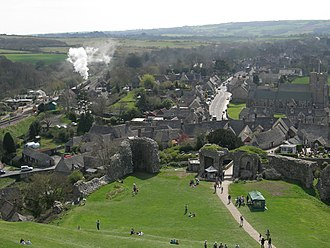 Corfe Castle (village) - The village, as seen from the castle