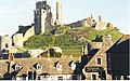 Corfe Castle Rises over the Village Rooftops - geograph.org.uk - 952400.jpg