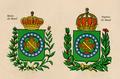 Coroa real VERSUS coroa Imperial do Brasil.png