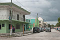 Corozal Town street on a gloomy day.jpg