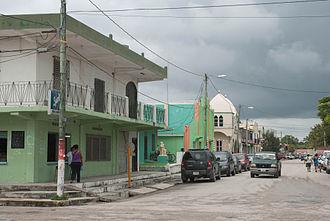 Corozal Town - Image: Corozal Town street on a gloomy day